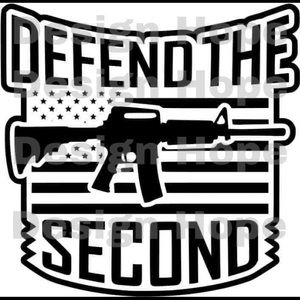 Second amendment decal 4""
